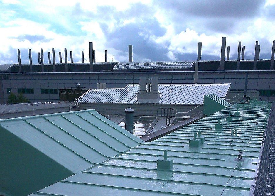 The new roof refurbishment at the Joseph Black Building