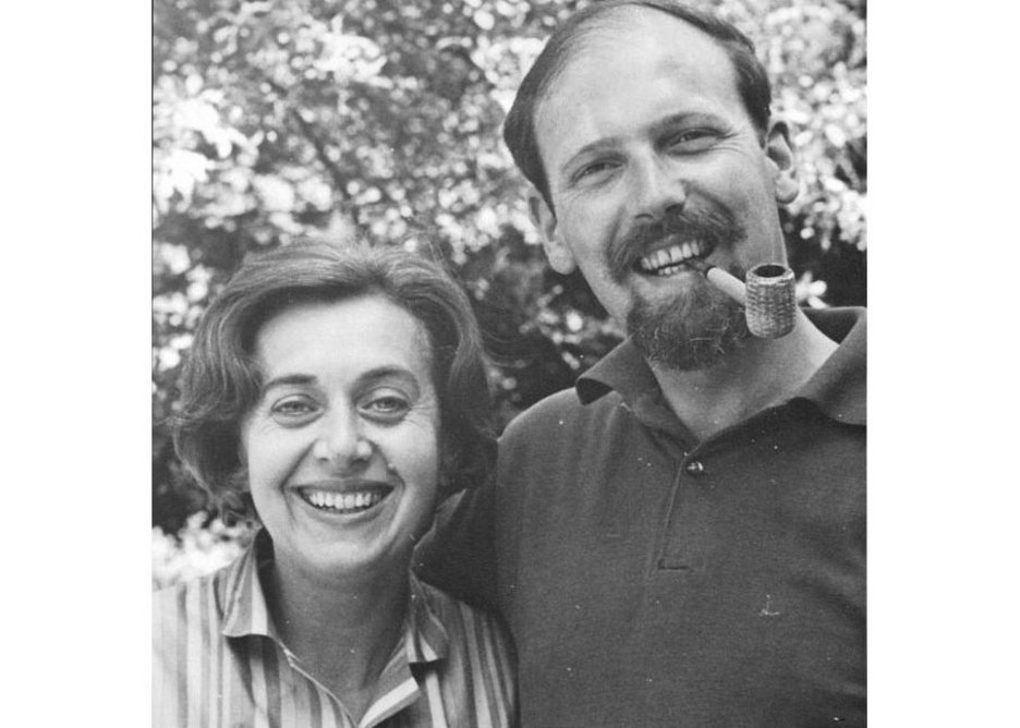 Norman Engleback with his wife Pat.