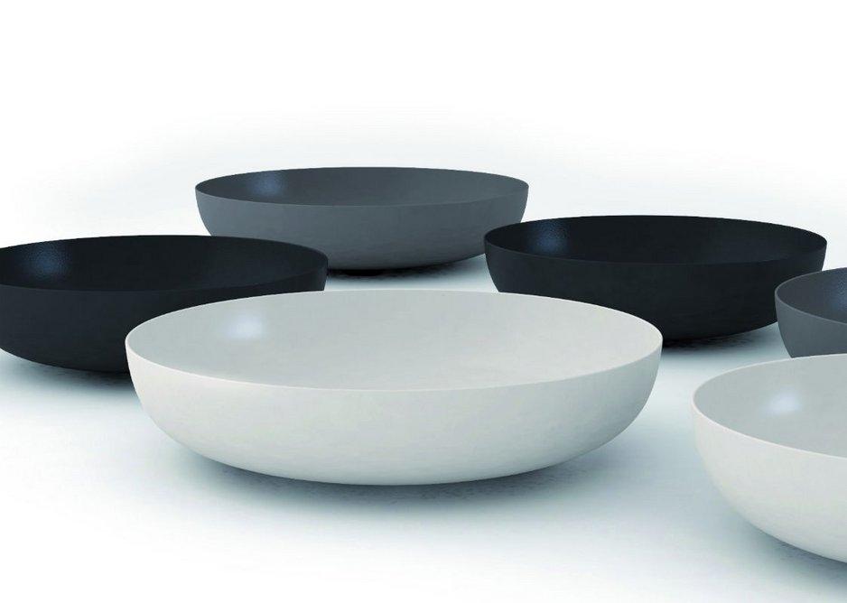 Award-winning Miena washbasin bowls in matt shades from Kaldewei's Coordinated Colours Collection.
