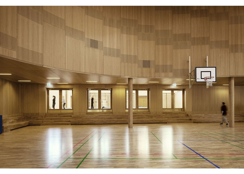 Junckers Leveldek flooring at a gymnasium.