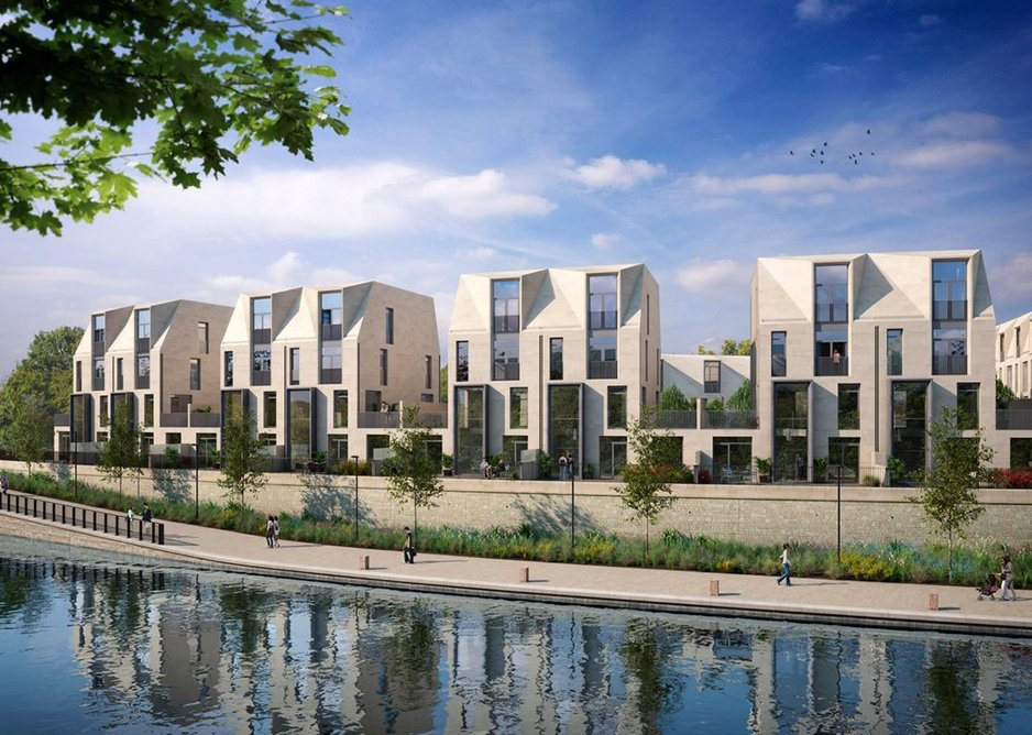 Bath Riverside, designed by Alison Brooks Architects, as seen from the River Avon.