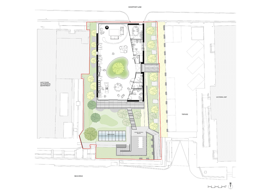 Contextual plan of the building and site.