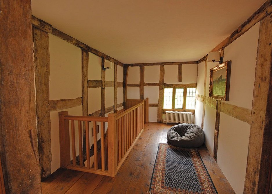 New floors and balustrades sit alongside the old.