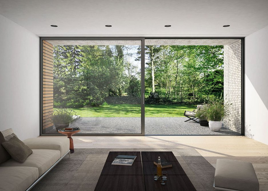 A Design Line option is available for a more-glass-less-frame sliding door solution.