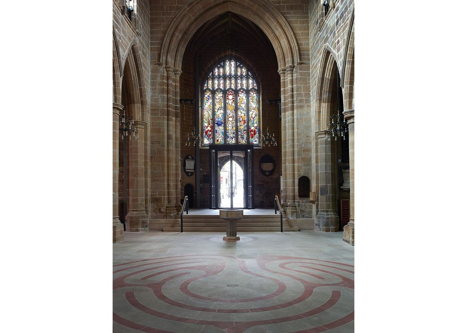 Wakefield Cathedral reordering, Wakefield, by Thomas Ford and Partners.