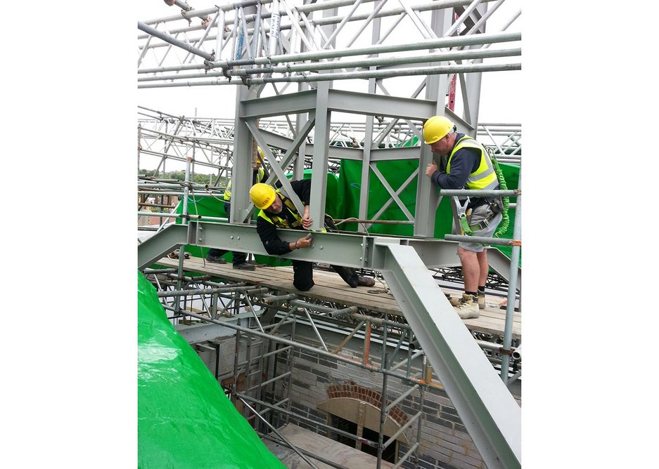 Steelwork structure for the cupola is distinctly non-trad.