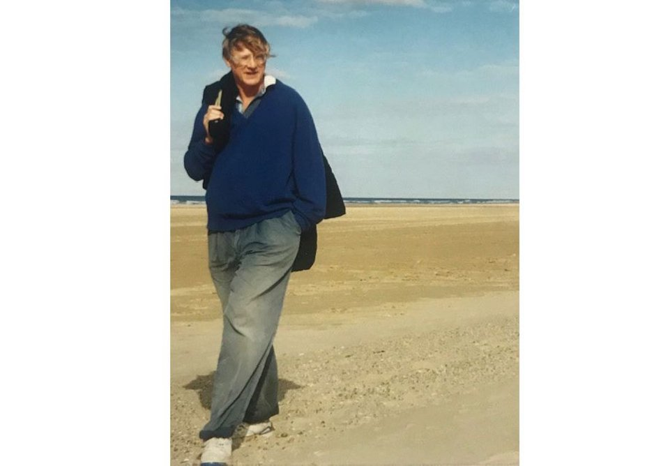 Grimshaw on a recent walk on the beach in Norfolk.