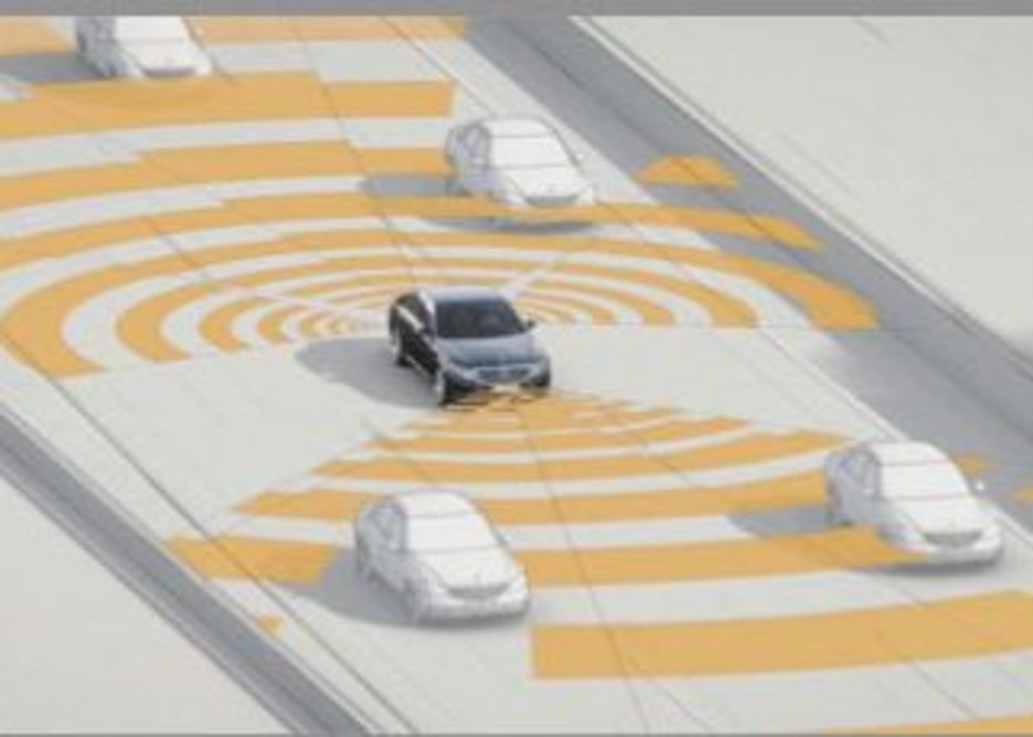 Driverless cars making efficient use of space.