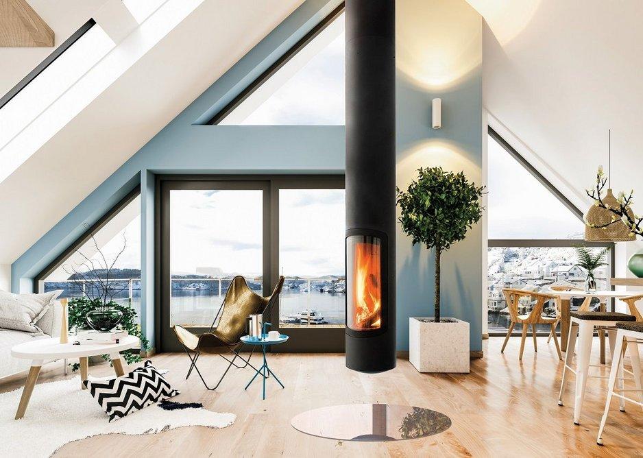 Slimfocus Ecodesign Ready fireplace.