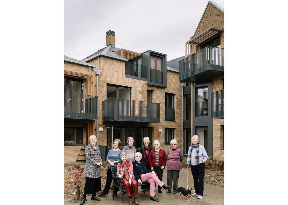Members of Older Womens' Co-Housing who commissioned New Ground.