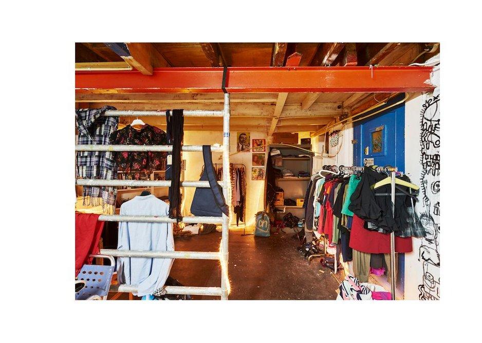 Giveaway shop at Poortgebouw, 2016.