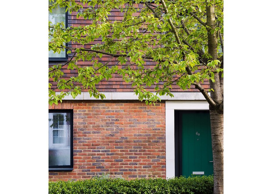 The houses with their own front doors, precast porticos and grand dormers have the individuality that large blocks, even fine ones as at Cleverly, struggle to capture.