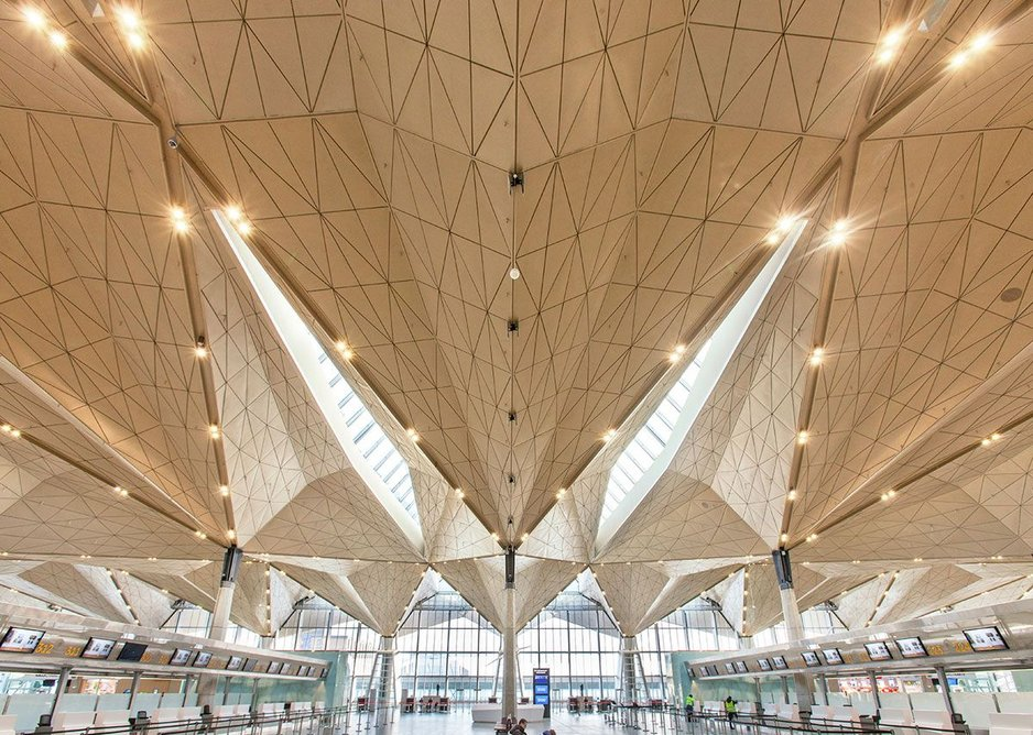 The engineering grace of Pulkovo Airport in St Petersburg, Russia. Grimshaw Architects.