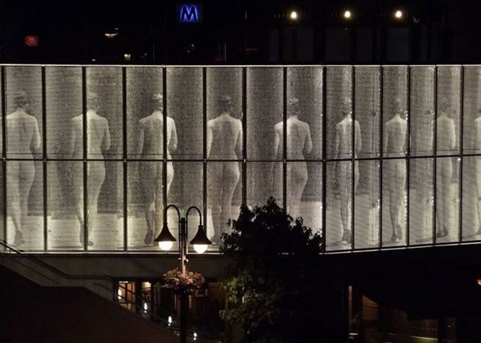 Perftec and Picperf architectural aluminium in anodised silver finish, Eadweard Muybridge artwork, Kingston. Haworth Tompkins architects.