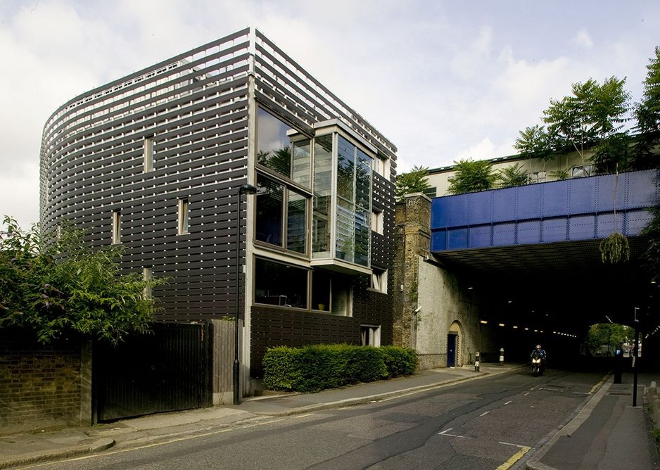 The first fully formed building: on a scrap of land in London' s Centaur Street.