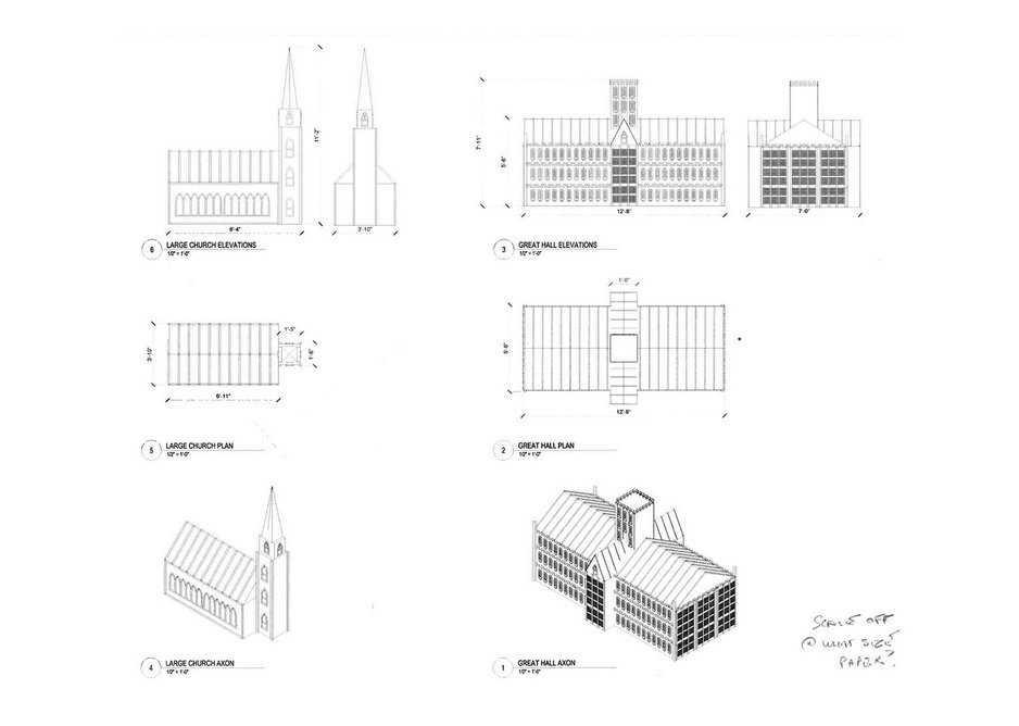 Designs for London 1666 by David Best. The structure will be burned on September 4.