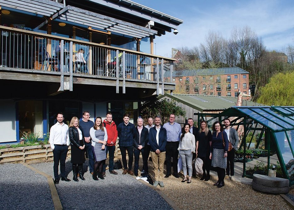 The Byker event took place just down the valley at Ouseburn Farm, shown here with the presenters and judges.