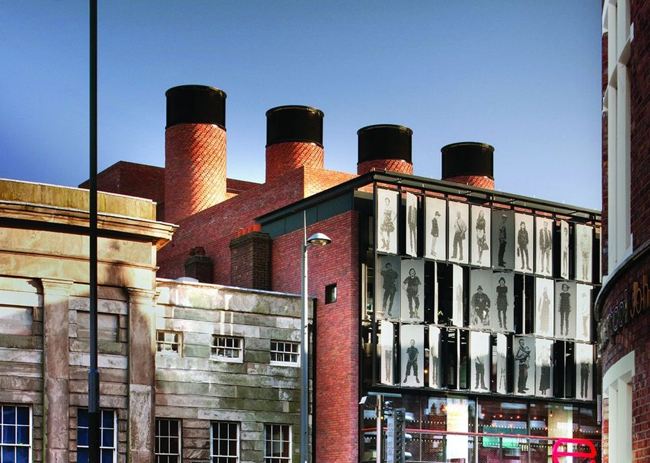 Steamship air handling: the theatre is naturally ventilated through these distinctive brick chimney stacks.