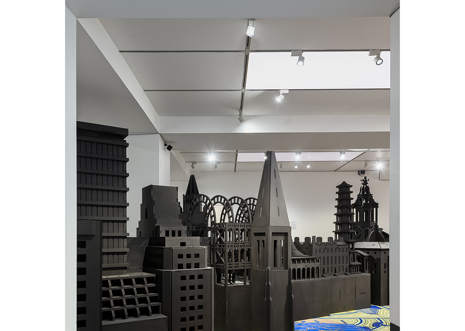 A hybrid model of buildings from the last 500 years is the setting for the virtual reality component of the Freestyle exhibition.