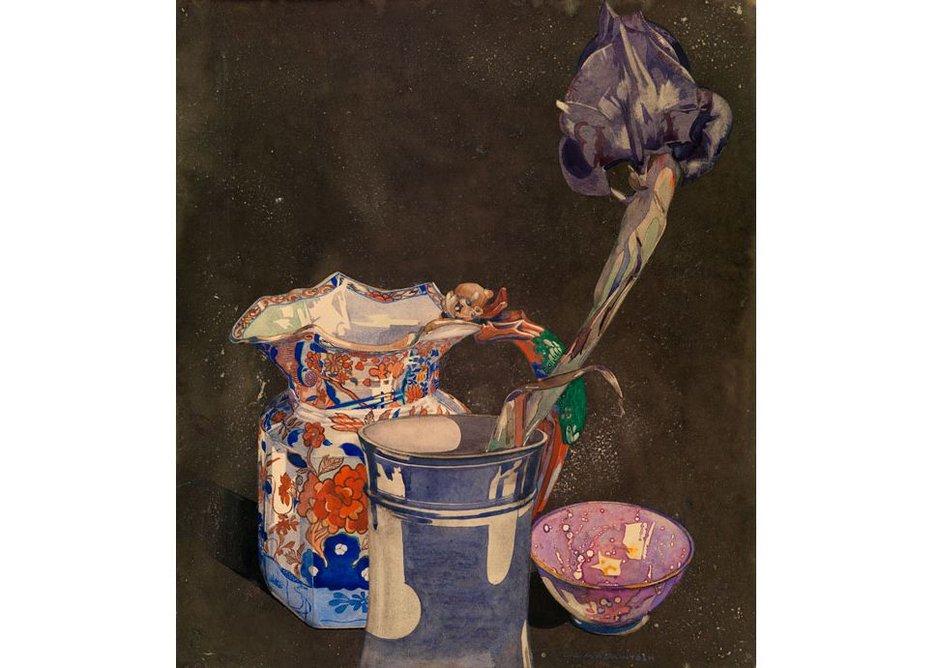 Charles Rennie Mackintosh, Grey Iris, 1923
