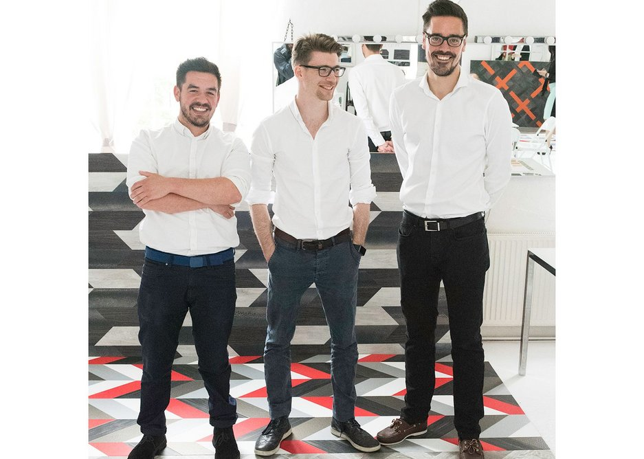 From left to right: DLA Design's Isaac Barraclough, Jake Grousset and Alex Giles.