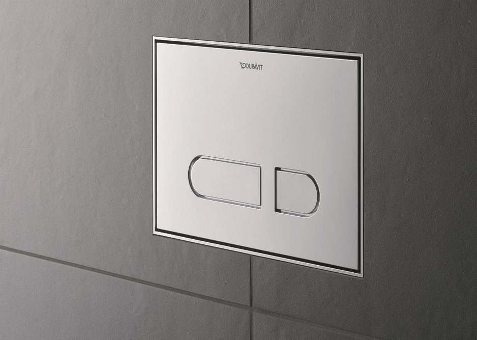 The mechanical A1 toilet actuator plate can also be flush mounted.