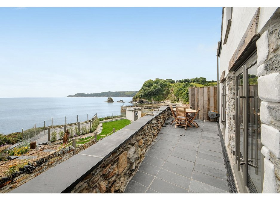 Ocean view from the romantic clifftop home