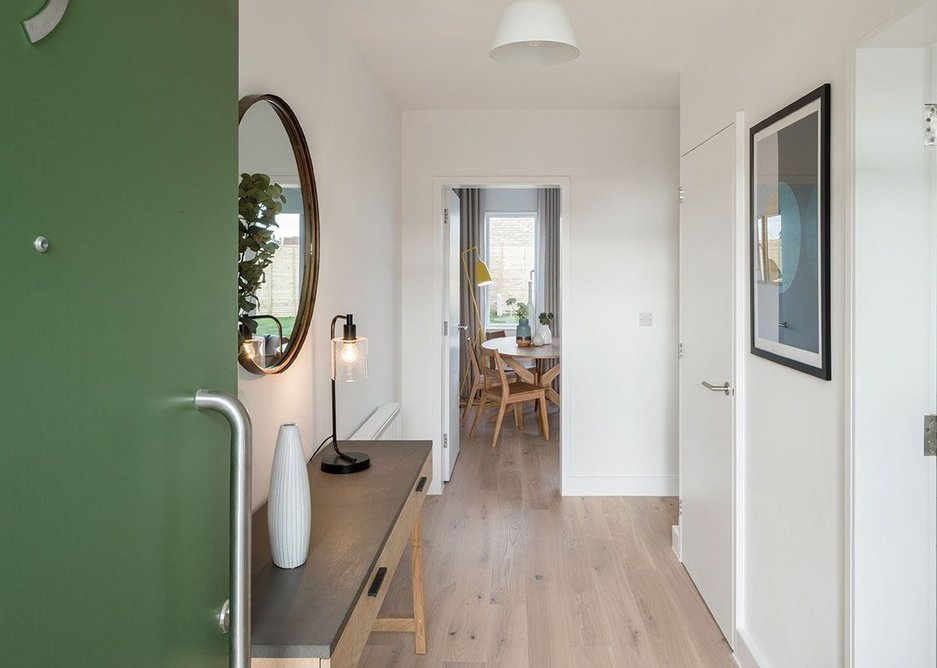 Wide hallways, a 2.4m front door with fanlight and a view straight out the other side make the houses feel spacious.