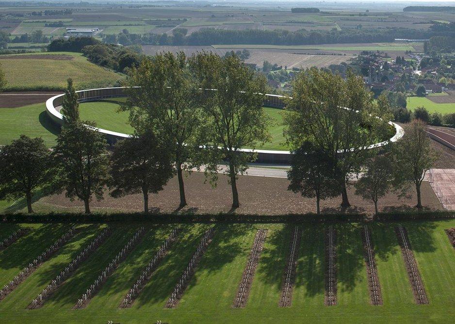The Ring of Remembrance, International WWI Memorial of Notre-Dame-de-Lorette near Arras, France.
