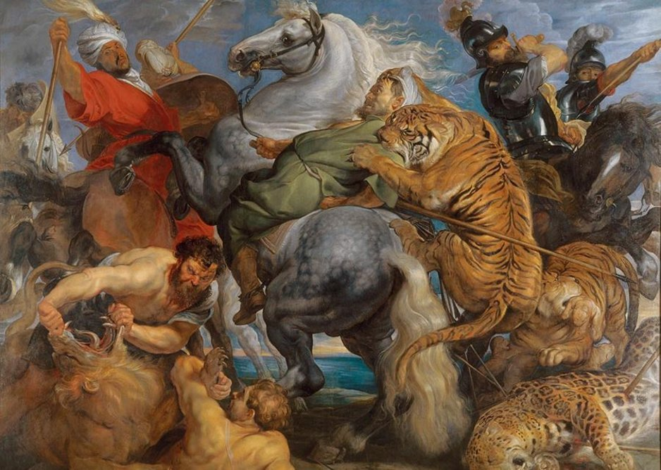 Peter Paul Rubens, Tiger, Lion and Leopard Hunt, 1616.
