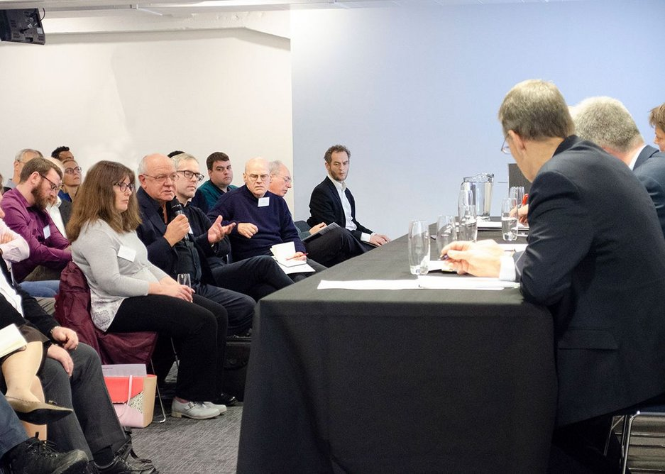Nearly 100 architects and professionals attended the event.