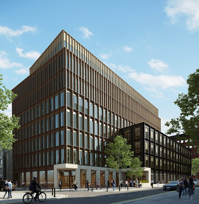 CGI of the completed Forge building, Southwark.