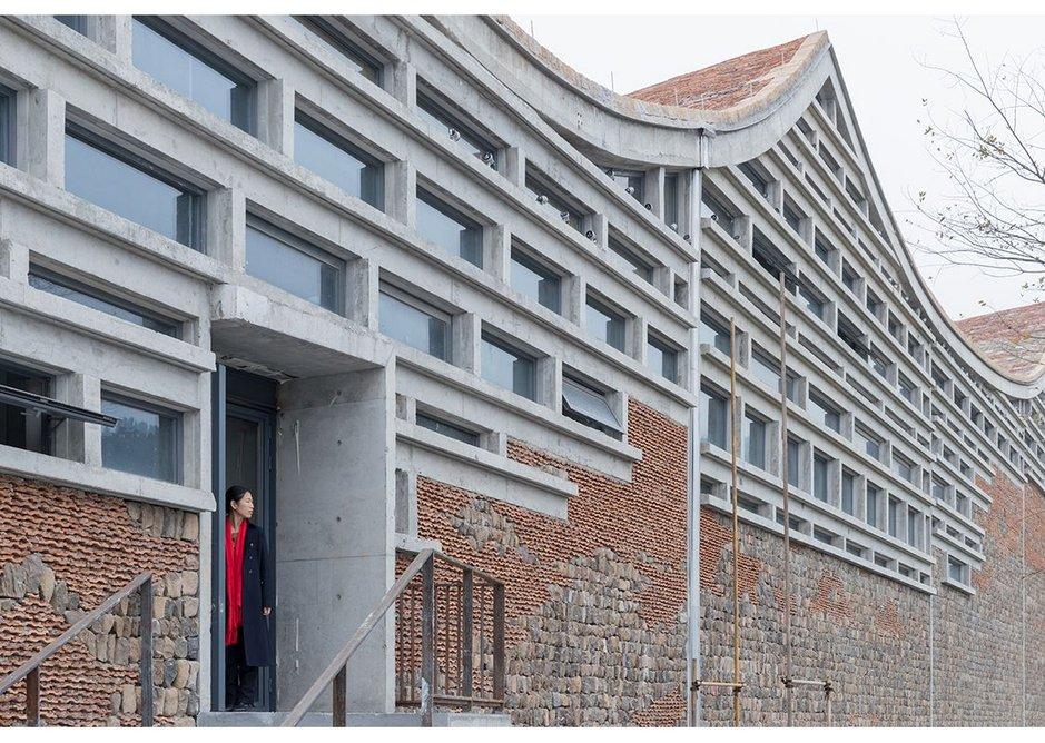 Fuyang Culture Complex, 2016 by Amateur Architecture Studio.