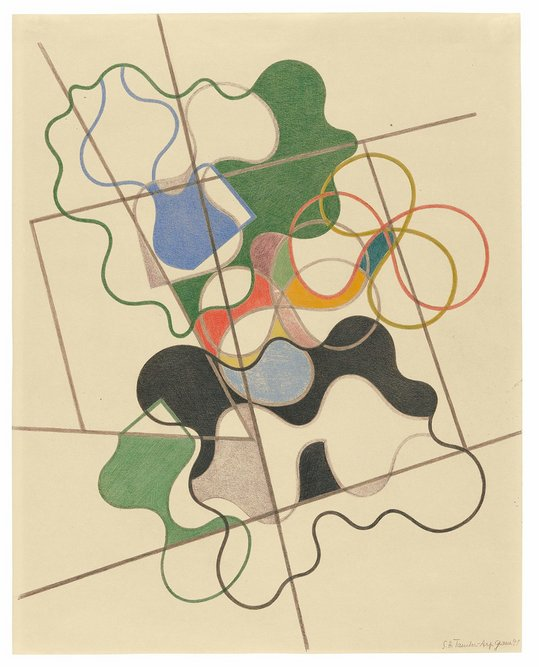 Geometric and undulating by Sophie Taeuber-Arp, 1941 Museo d'Arte della Svizzera Italiana,Lugano, Switzerland. Collection Cantone Ticino