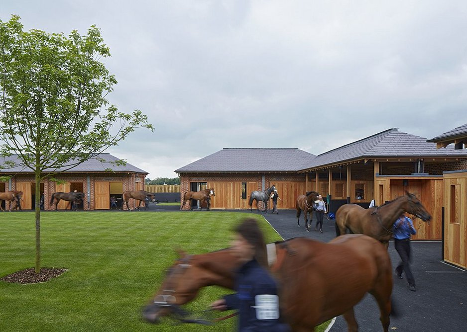 Phase one includes the pre-parade ring, saddling boxes and weigh-in building.