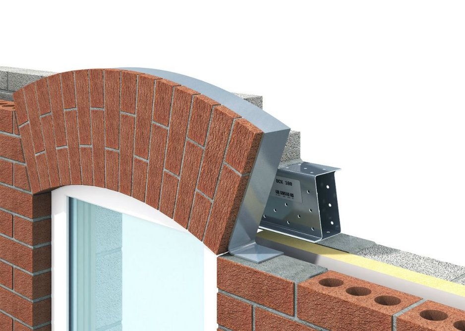 IG Brick Slip Feature Lintels are delivered to site with bricks bonded for final pointing.