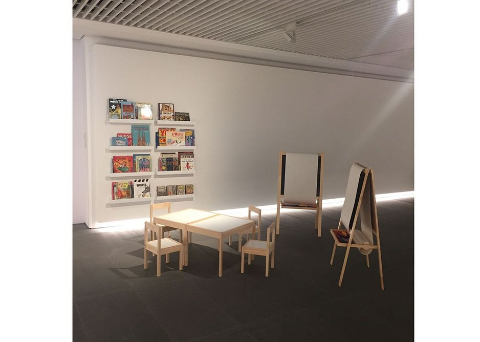 Exhibition view of Building Children's Worlds.