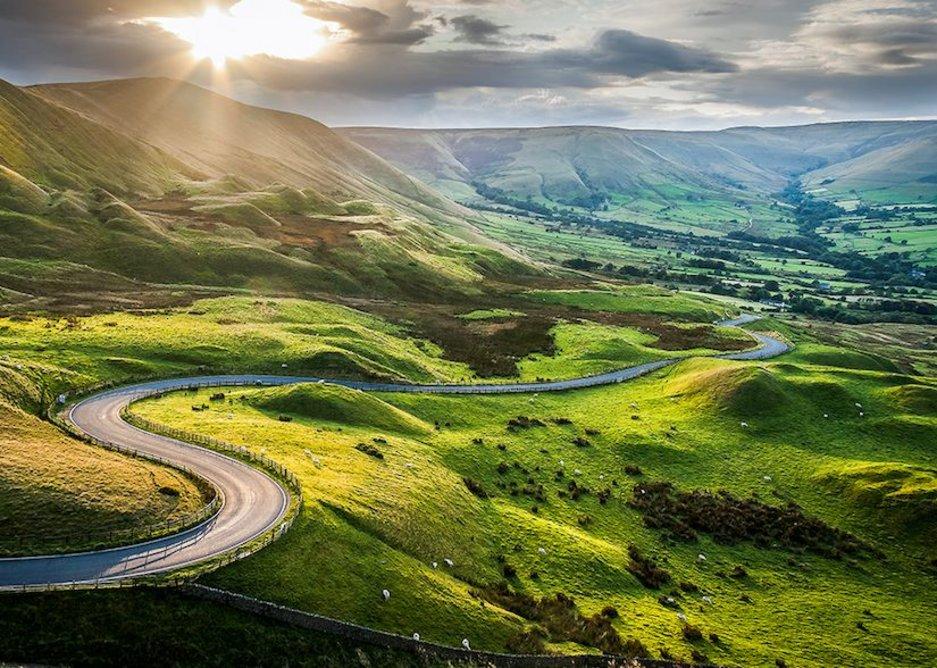 Inspiring landscapes: Mam Tor in the Peak District.