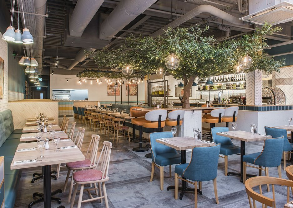 Durability and acoustic performance were key to Prezzo's decision to choose Interface luxury vinyl tiles.