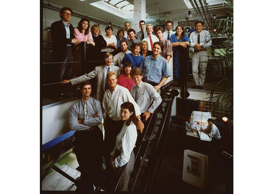 Grimshaw studio team in 1988, London, United Kingdom.