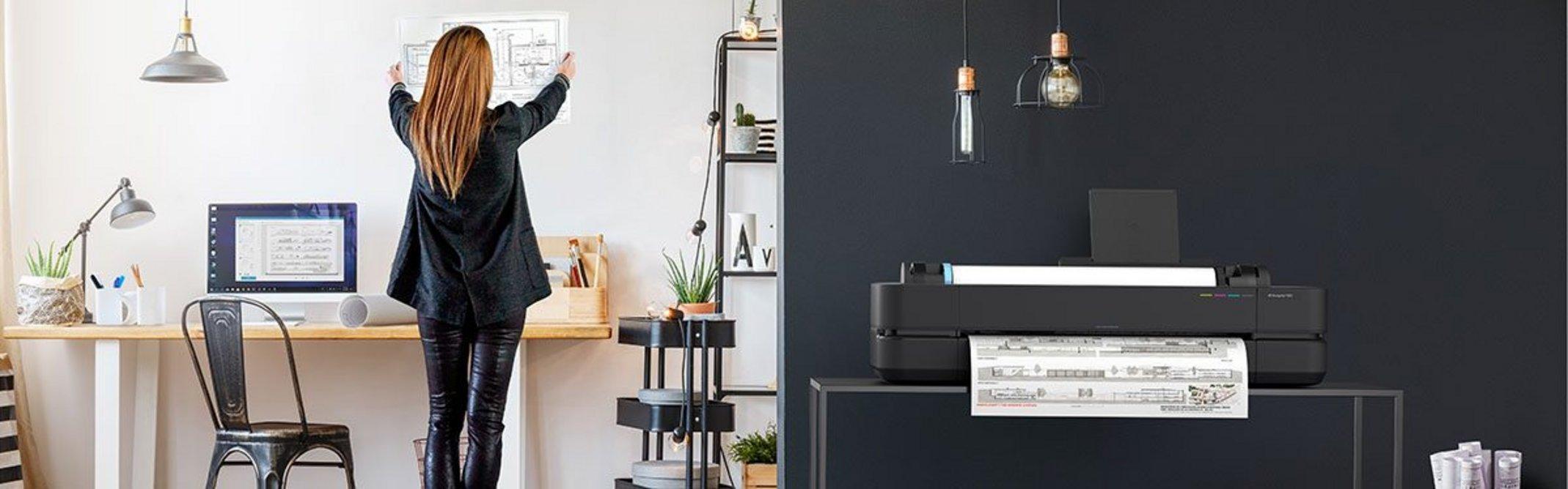 The HP DesignJet Studio Printer Series offers new auto-sensing media-handling functions.