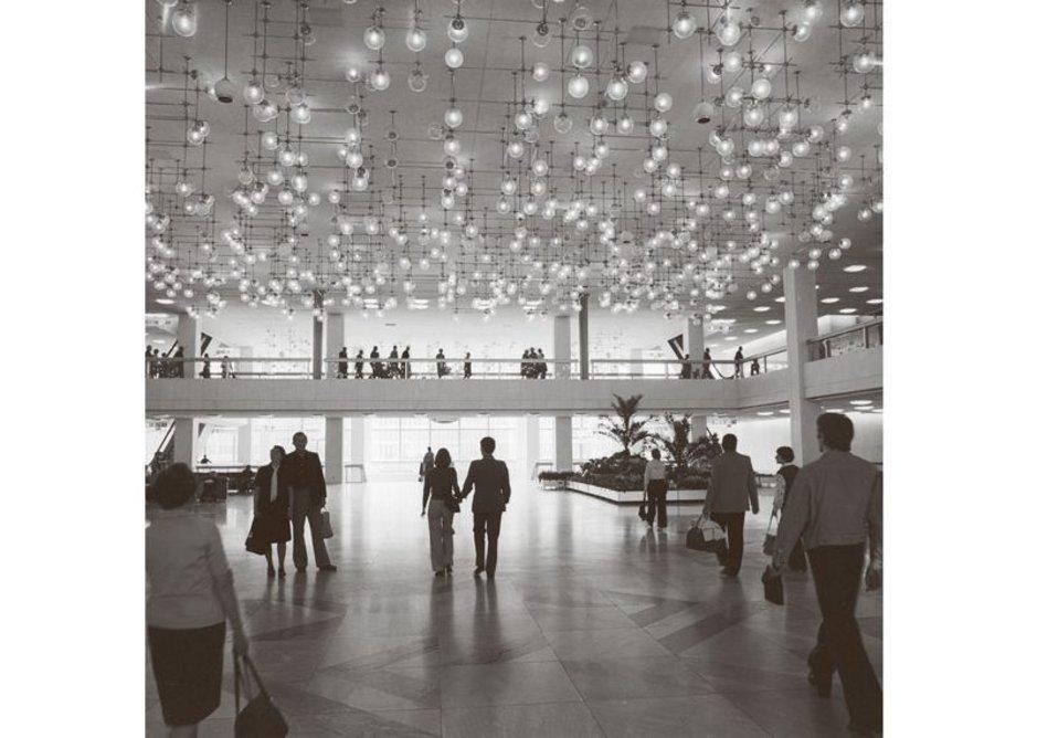Foyer of the Palast der Republik, Berlin, 7 July 1977, designed by Heinz Graffander.