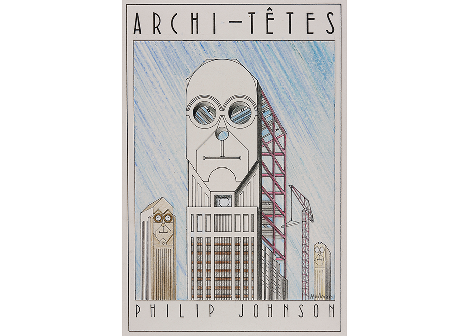 Philip Johnson as seen by Louis Hellman.
