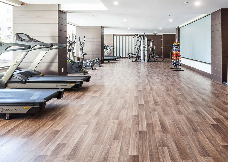 Gerflor flooring installed at a new fitness centre.
