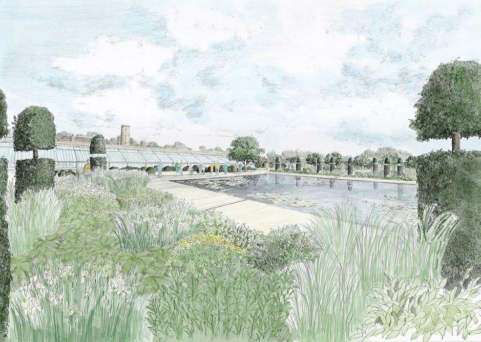Masterplan: design for walled garden, RHS Garden Bridgewater.