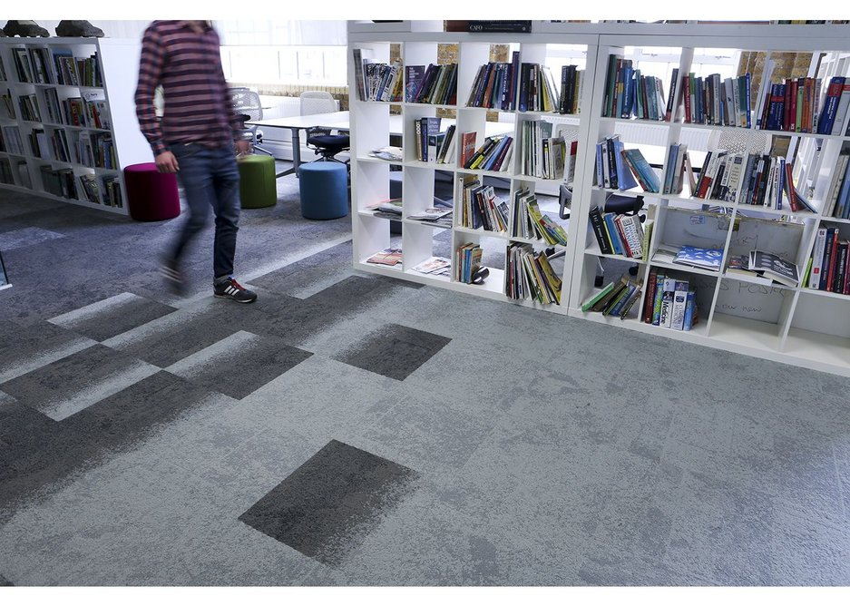 Flashpoints of nature can be seen in Interface's carpet design.