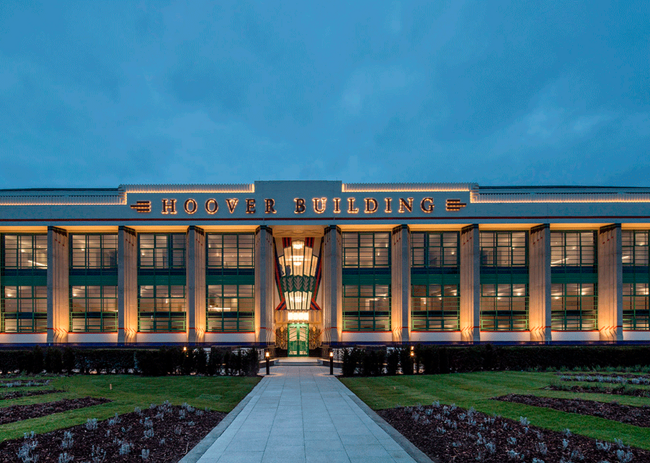 Renovation of the art deco Hoover Building by Webb Yates was as structure and as architects. The embodied carbon of the work was 355kg CO2/m2, much of that spent on secondary glazing.