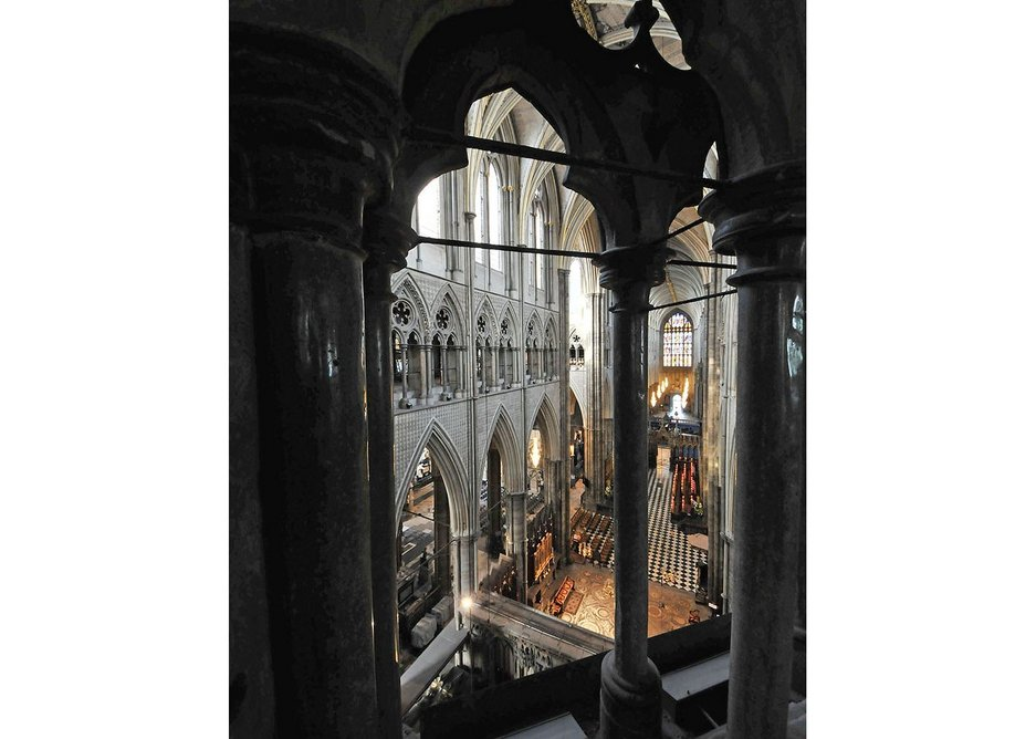 View into the Abbey from Triforium