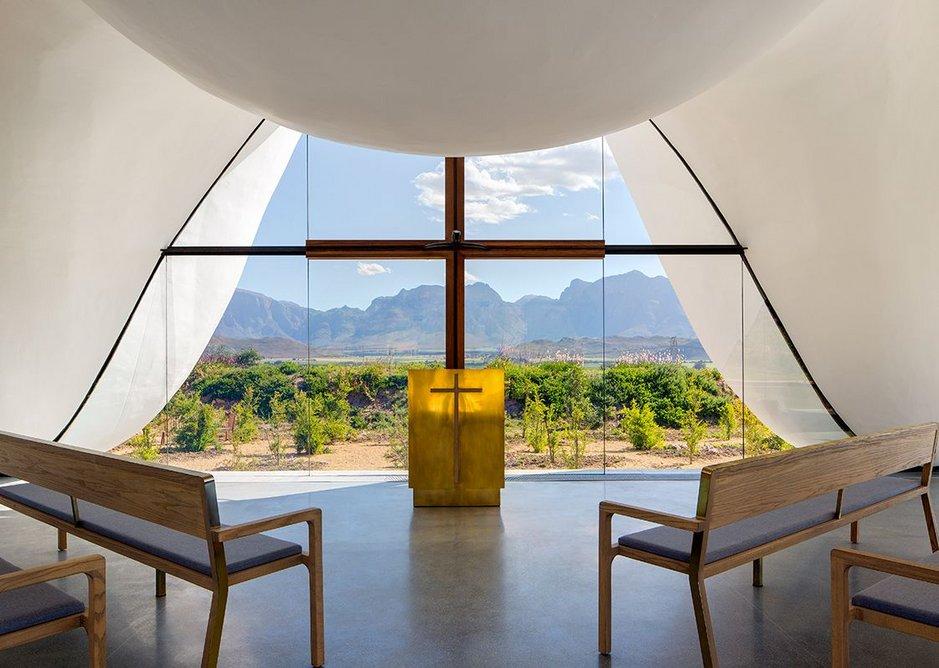 Window becomes crucifix on Bosjes Chapel.