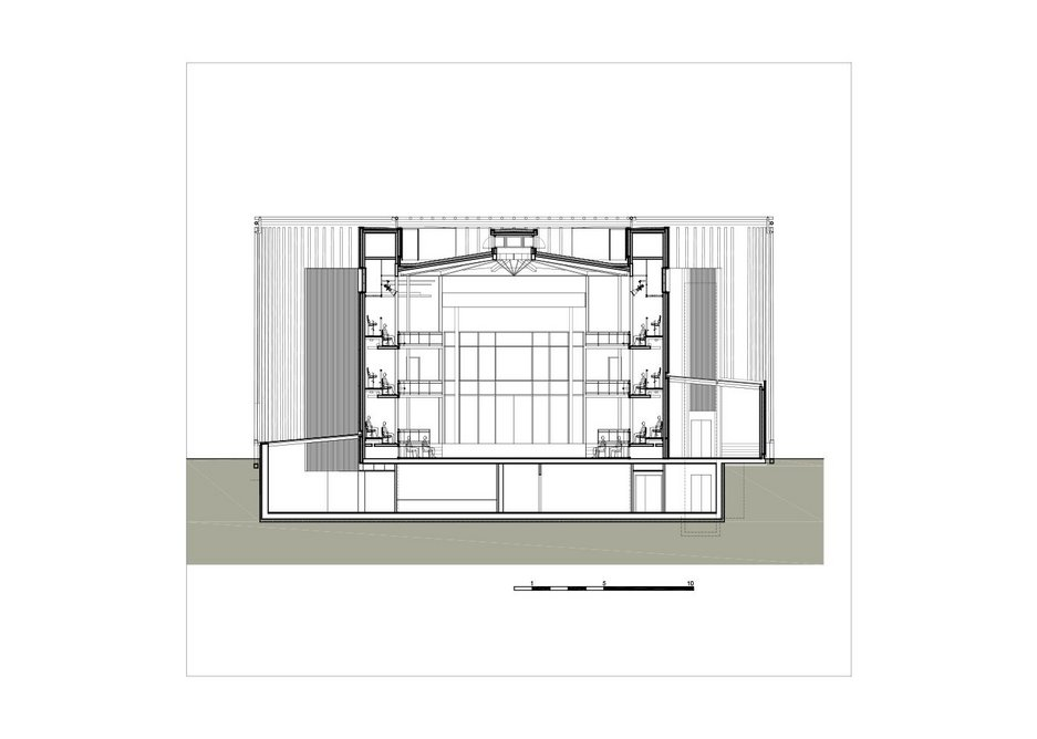 Cross section of theatre